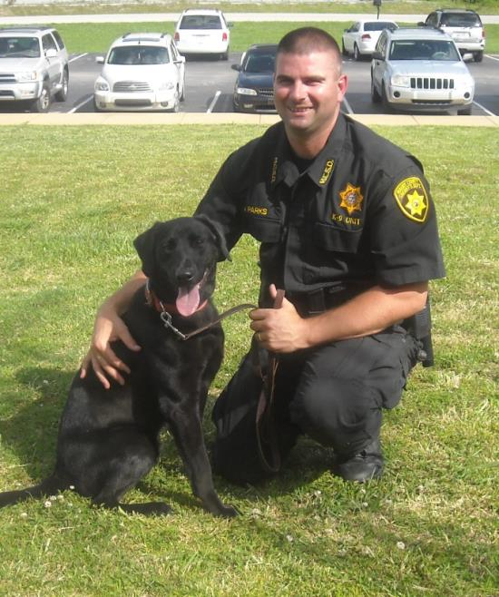Deputy Joey Parks and K-9 Pepper