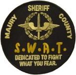 Maury County Sheriff SWAT Patch